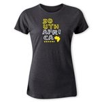 South Africa Women's Country T-Shirt (Dark Gray)