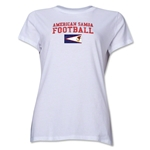 American Samoa Women's Football T-Shirt (White)