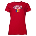 Andorra Women's Soccer T-Shirt (Red)