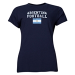 Argentina Women's Football T-Shirt (Navy)