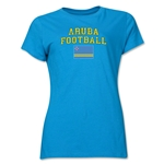 Aruba Women's Football T-Shirt (Turquoise)