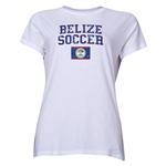 Belize Women's Soccer T-Shirt (White)