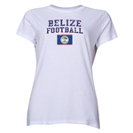Belize Women's Football T-Shirt (White)