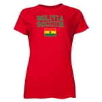 Bolivia Women's Soccer T-Shirt (Red)