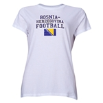 Bosnia-Herzegovina Women's Football T-Shirt (White)