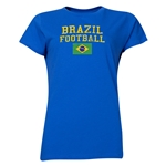 Brazil Women's Football T-Shirt (Royal)