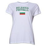 Bulgaria Women's Football T-Shirt (White)