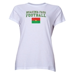 Burkina Faso Women's Football T-Shirt (White)