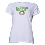 Burundi Women's Football T-Shirt (White)