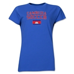 Cambodia Women's Soccer T-Shirt (Royal)