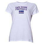 Cape Verde Women's Football T-Shirt (White)