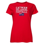 Cayman Islands Women's Football T-Shirt (Red)