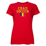Chad Women's Soccer T-Shirt (Red)