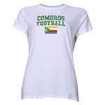 Comoros Women's Football T-Shirt (White)