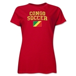 Congo Women's Soccer T-Shirt (Red)