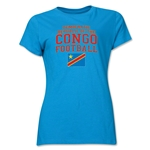 Congo DR Women's Football T-Shirt (Turquoise)