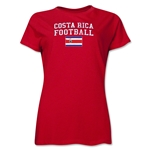 Costa Rica Women's Football T-Shirt (Red)