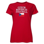 Czech Republic Women's Football T-Shirt (Red)