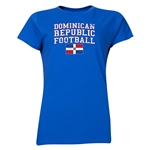 Dominican Republic Women's Football T-Shirt (Royal)