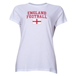 England Women's Football T-Shirt (White)