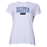 Estonia Women's Soccer T-Shirt (White)