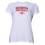 Georgia Women's Football T-Shirt (White)