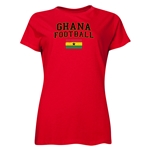 Ghana Women's Football T-Shirt (Red)
