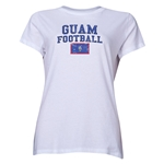 Guam Women's Football T-Shirt (White)