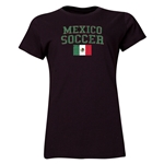 Mexico Women's Soccer T-Shirt (Black)