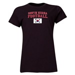 South Korea Women's Football T-Shirt (Black)