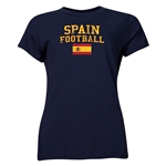 Spain Women's Football T-Shirt (Navy)