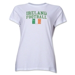 Ireland Women's Football T-Shirt (White)