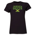 Jamaica Women's Soccer T-Shirt (Black)