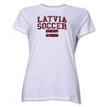 Latvia Women's Soccer T-Shirt (White)