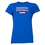 Paraguay Women's Football T-Shirt (Royal)
