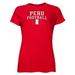 Peru Women's Football T-Shirt (Red)