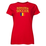 Romania Women's Soccer T-Shirt (Red)