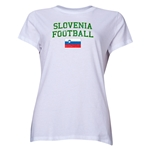 Slovenia Women's Football T-Shirt (White)