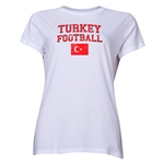 Turkey Women's Football T-Shirt (White)
