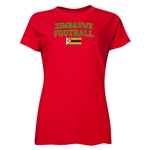 Zimbabwe Women's Football T-Shirt (Red)