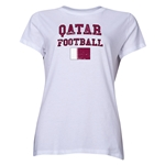 Qatar Women's Football T-Shirt (White)