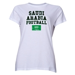 Saudi Arabia Women's Football T-Shirt (White)