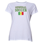 Senegal Women's Soccer T-Shirt (White)