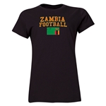 Zambia Women's Football T-Shirt (Black)