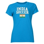 India Women's Soccer T-Shirt (Turquoise)
