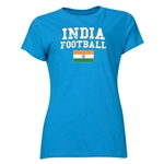 India Women's Football T-Shirt (Turquoise)