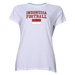 Indonesia Women's Football T-Shirt (White)