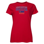 Liechtenstein Women's Soccer T-Shirt (Red)