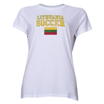 Lithuania Women's Soccer T-Shirt (White)