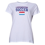 Luxembourg Women's Soccer T-Shirt (White)